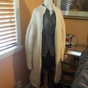 Long chunky knitted Gap coat